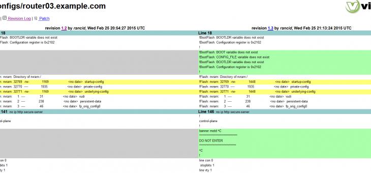 Rancid 3.2-2.el7 Установка на CentOS 7 с просмотром через ViewVC
